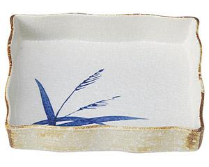 白淡雪ススキ 正角5.0鉢