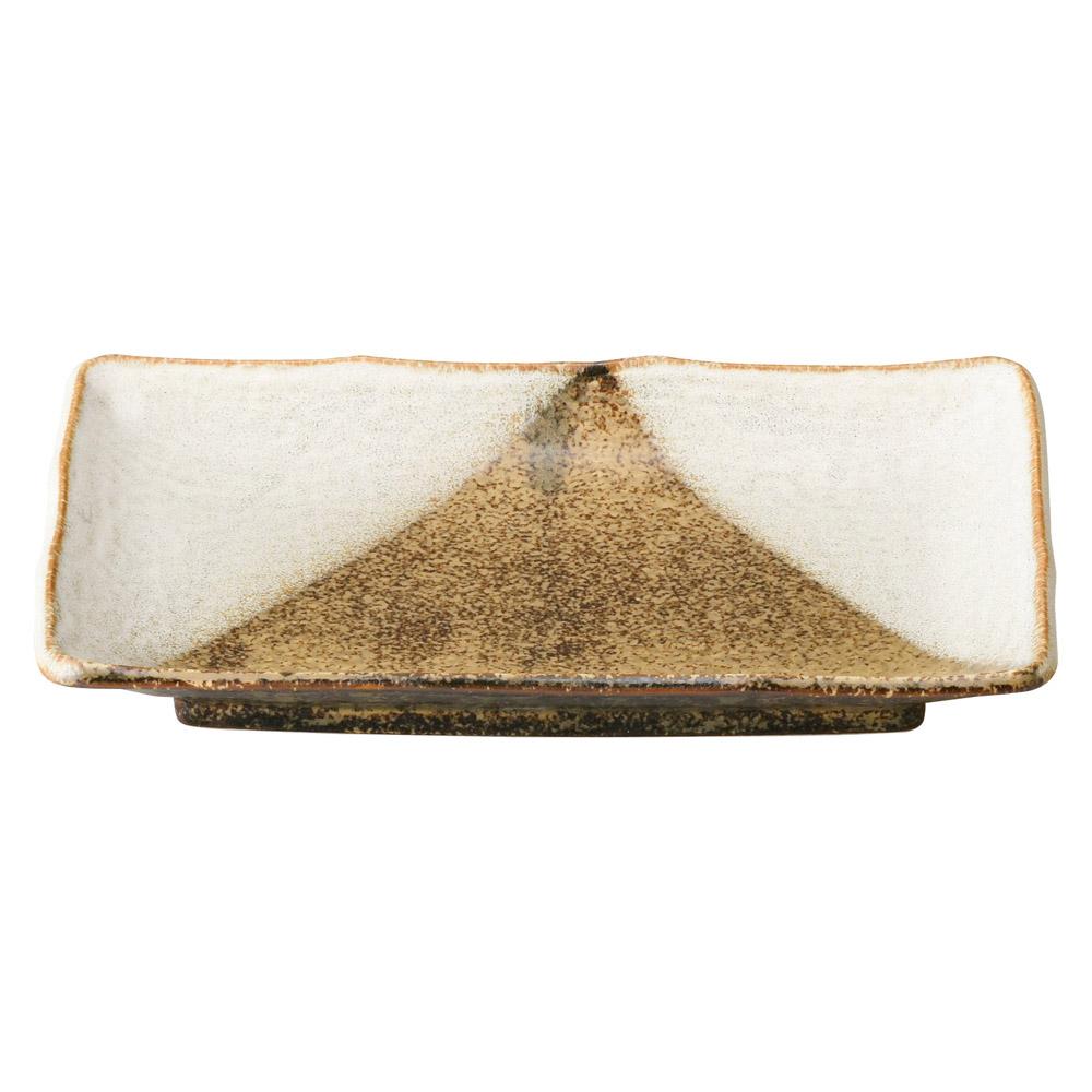 黄河三方掛け 焼物皿