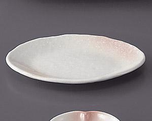 桜吹ピンク楕円皿