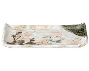 白タタキサビ木 焼物皿