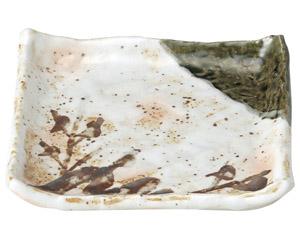 白タタキサビ木 正角皿