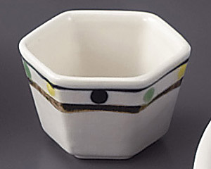 レインボー六角小鉢