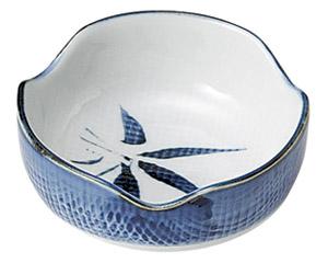 古染布目笹 3.0小鉢