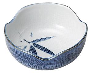 古染布目笹 3.6小鉢