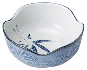 古染布目笹 4.0小鉢