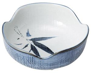 古染布目笹 刺身鉢