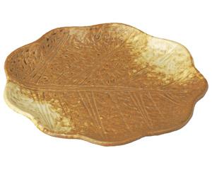イラボ白吹 木の葉型6.0皿