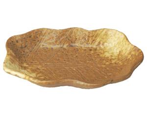 イラボ白吹 木の葉型銘々皿