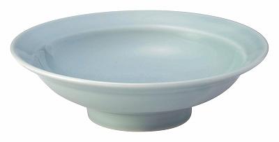 青彩 7.0丸高台皿(青磁中華)