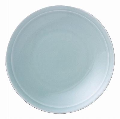 青彩 リム9.0皿(青磁中華)