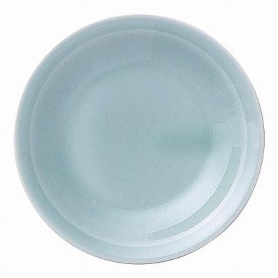 青彩 リム4.0皿(青磁中華)