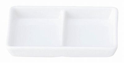 白翔 スタック2連皿(白磁中華)