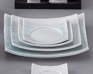 強化青白磁8.5四方皿