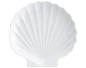 白磁シェル白7.0大皿