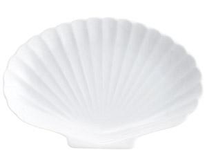白磁シェル白7吋プラター