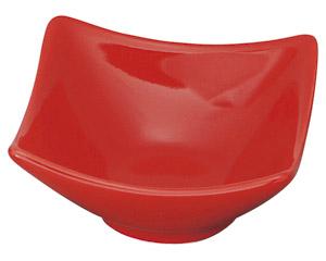 スタイル赤1P角鉢