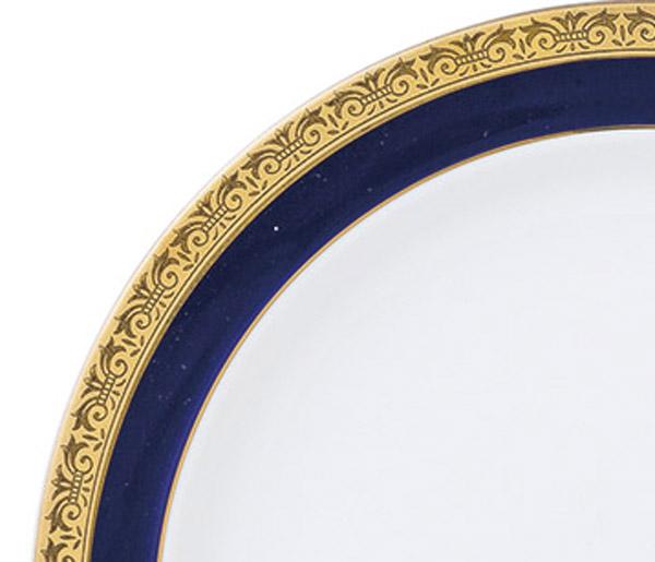 ディープブルーゴールド10吋皿 サムネイル2