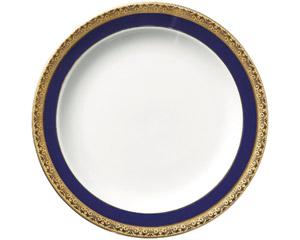 ディープブルーゴールド10吋皿