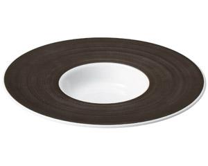 グラシア ブラウン24cm平型スープ