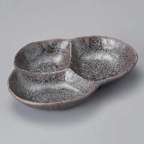 黒結晶松型仕切皿 画像