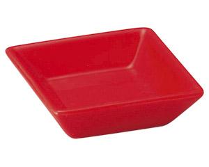 スタイル 赤角小皿
