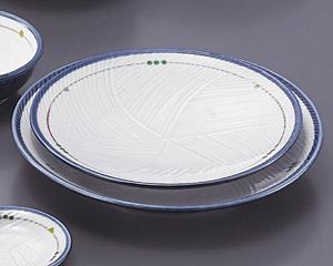 古代釉グリン散らし(強化)丸7.0皿