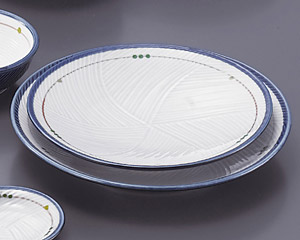 古代釉グリン散らし(強化)丸8.0皿