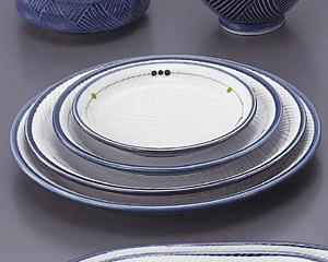 古代釉グリン散らし(強化)メタ9寸皿