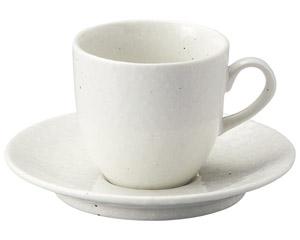 粉引黒い斑点 アメリカンカップと受皿
