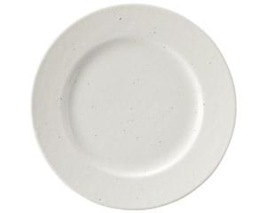 粉引黒い斑点 リム17cm皿