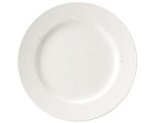 粉引黒い斑点 リム19cm皿