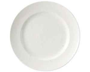 粉引黒い斑点 リム21cm皿