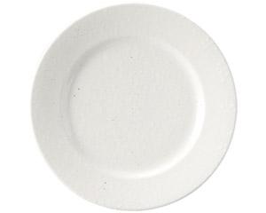 粉引黒い斑点 リム23cm皿