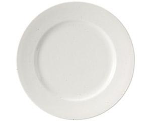 粉引黒い斑点 リム26cm皿