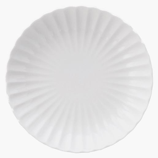 かすみ 白 18cm丸皿