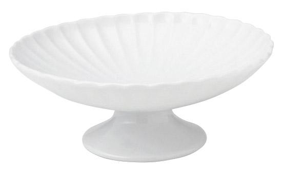 かすみ 白 高台デザート皿