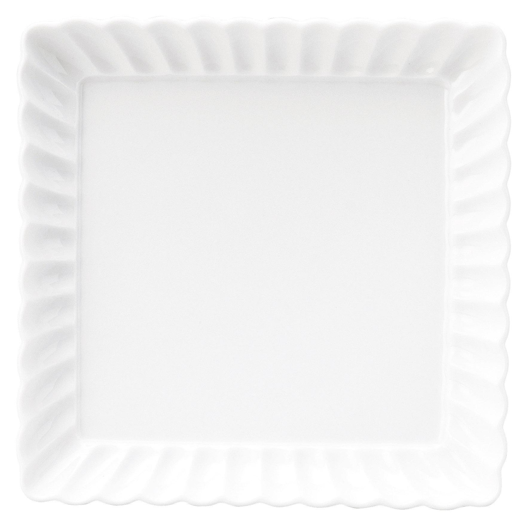 かすみ 白 17cm正角皿
