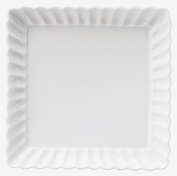 かすみ 白 15.5cm正角皿