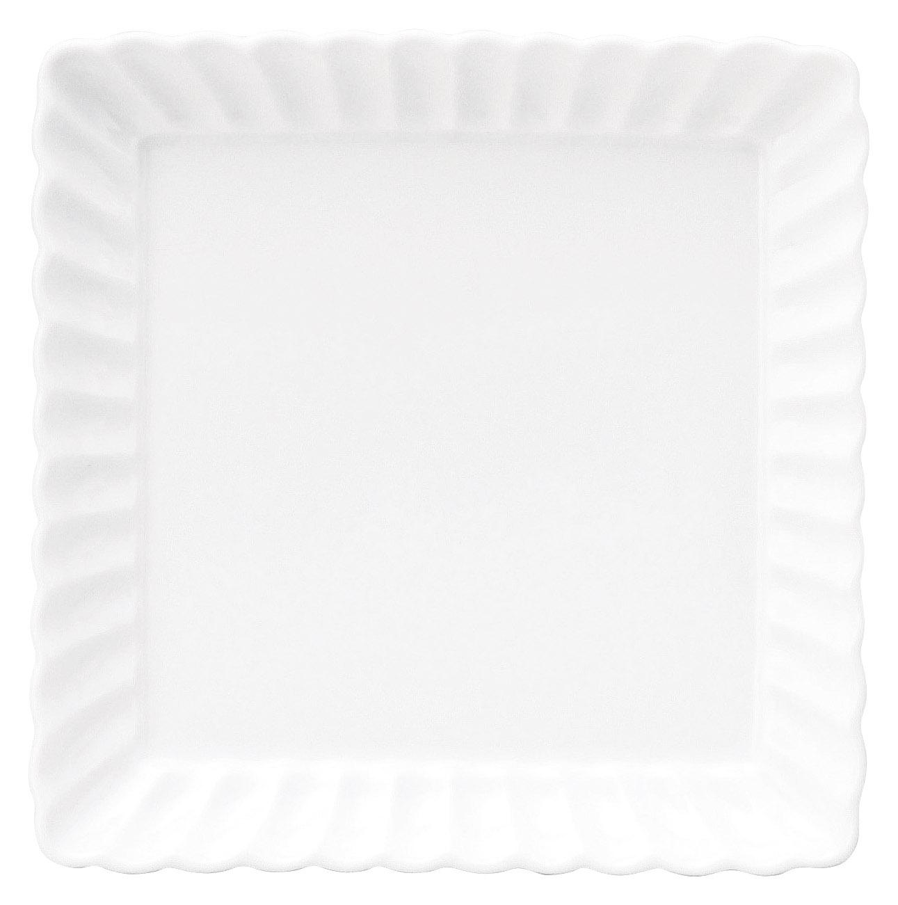 かすみ 白 13.5cm正角皿