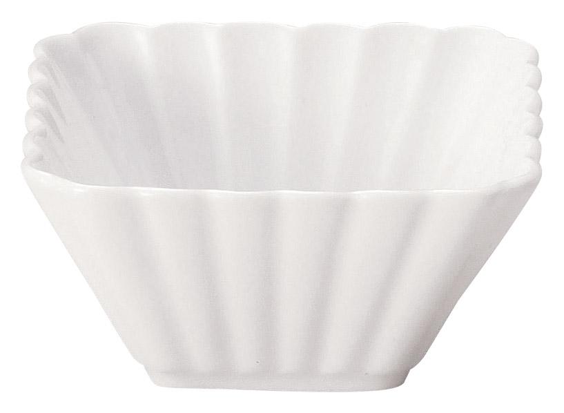 かすみ 白 9cm正角深鉢