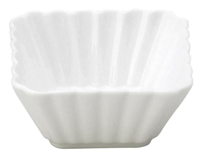 かすみ 白 7cm正角深鉢