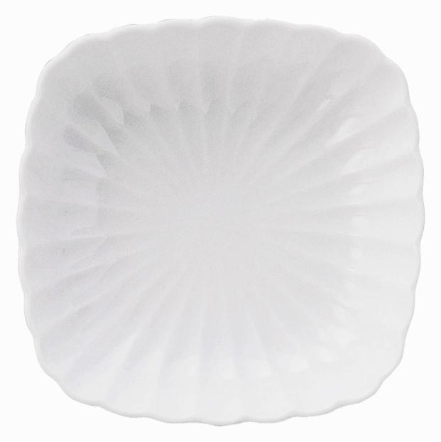 かすみ 白 12cm丸角皿