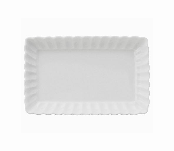 かすみ 白 21cm長角皿