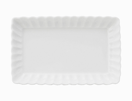 かすみ 白 17cm長角皿