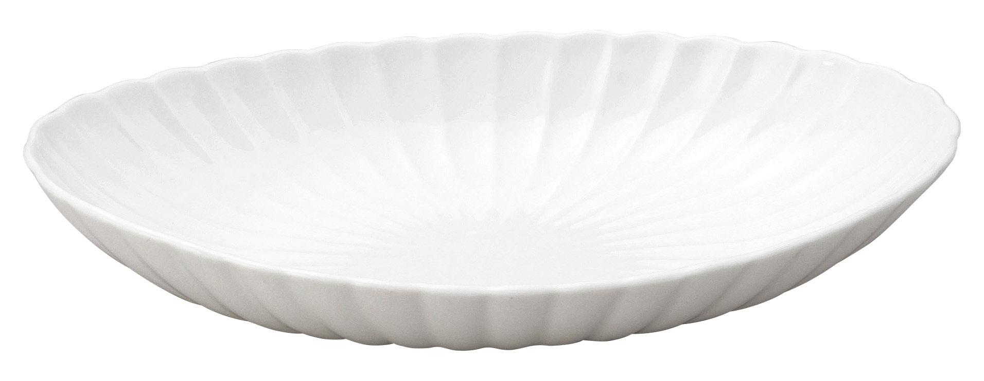 かすみ 白 楕円皿 大