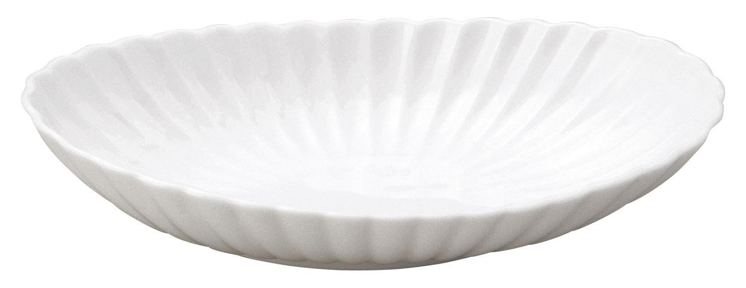 かすみ 白 楕円皿 中
