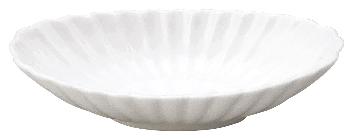 かすみ 白 楕円皿 小