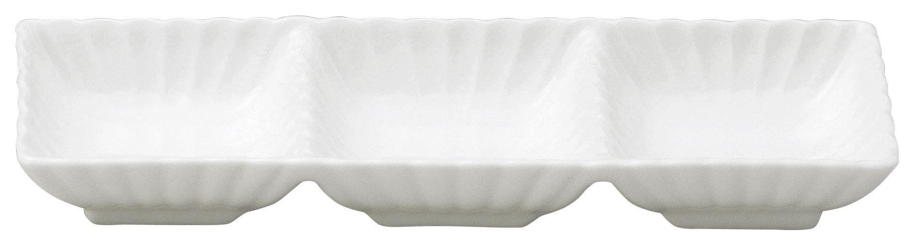 かすみ 白 3連皿