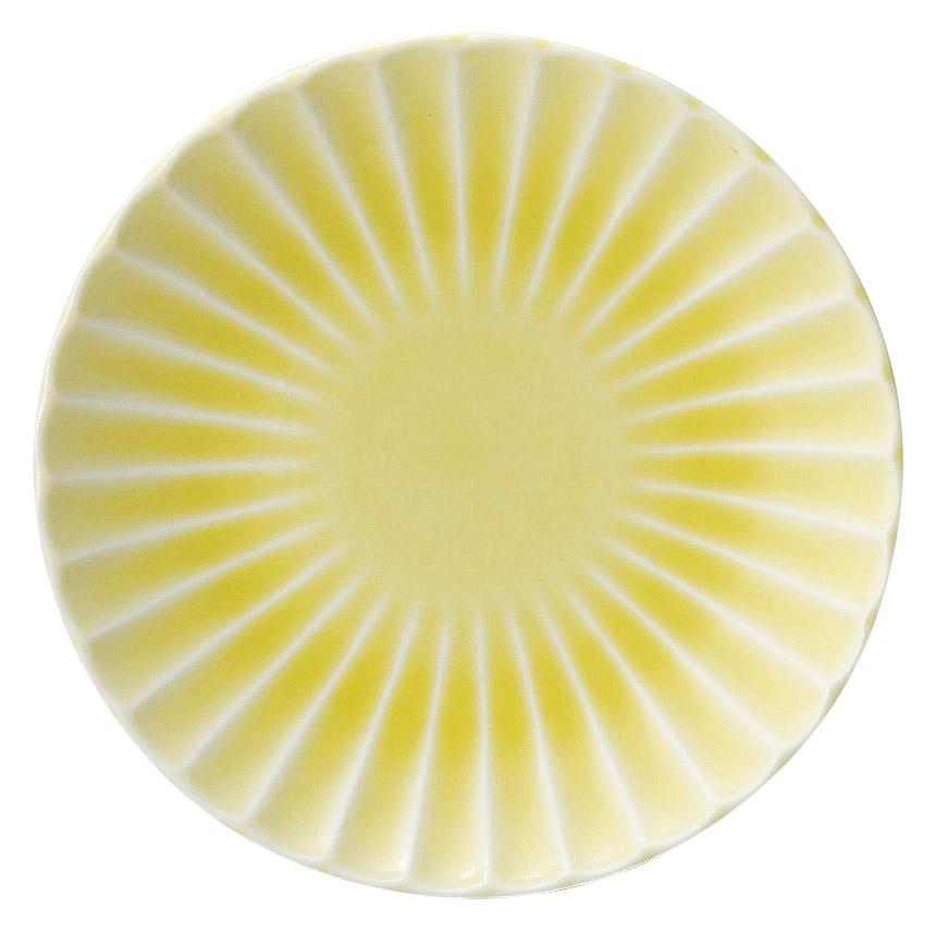 かすみ 黄 12.5cm丸皿