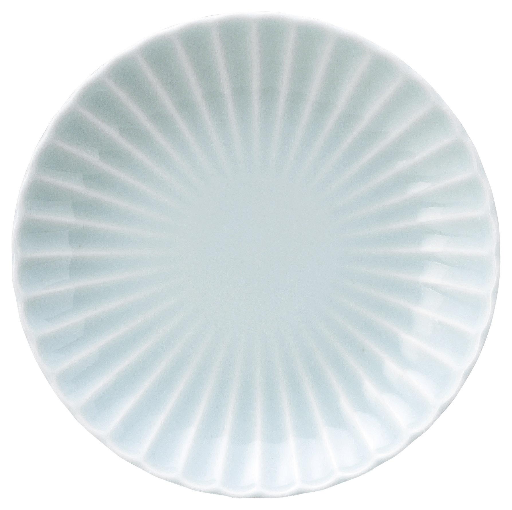 かすみ 青白 18cm丸皿